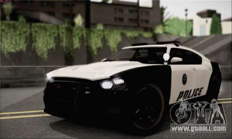 Bravado Buffalo S Police Edition (HQLM) for GTA San Andreas right view