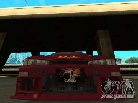 Nissan 200SX FnF1 (Letty car) for GTA San Andreas left view