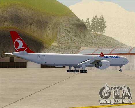 Airbus A340-600 Turkish Cargo for GTA San Andreas back view