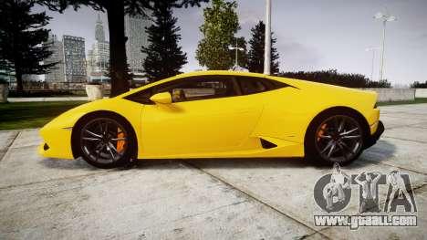 Lamborghini Huracan LP610-4 for GTA 4 left view