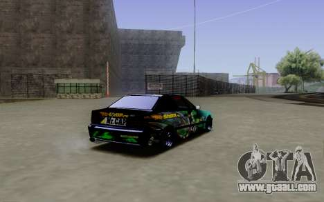 BMW M3 E36 Gorilla Energy Team for GTA San Andreas back left view