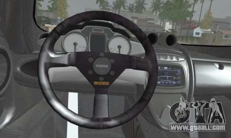 Pagani Huayra TT Ultimate Edition for GTA San Andreas back left view