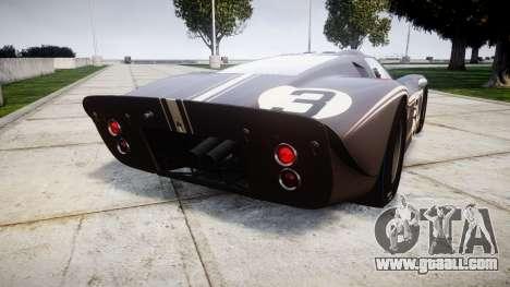 Ford GT40 Mark IV 1967 PJ 3 for GTA 4 back left view