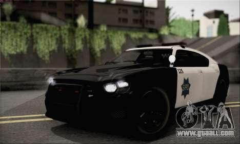 Bravado Buffalo S Police Edition (HQLM) for GTA San Andreas back left view