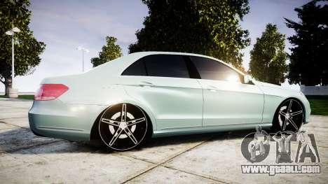 Mercedes-Benz E200 Vossen VVS CV5 for GTA 4 left view