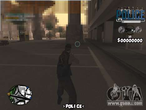 C-Hud Police for GTA San Andreas third screenshot