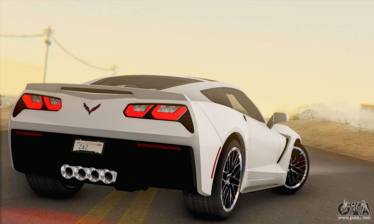 chevrolet corvette stingray c7 2014 for gta san andreas. Black Bedroom Furniture Sets. Home Design Ideas