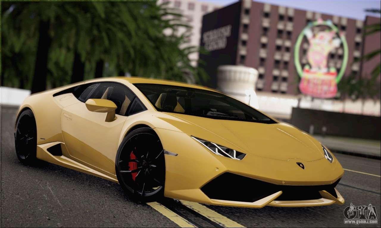 Lamborghini Huracan Lp610 4 2015 For Gta San Andreas