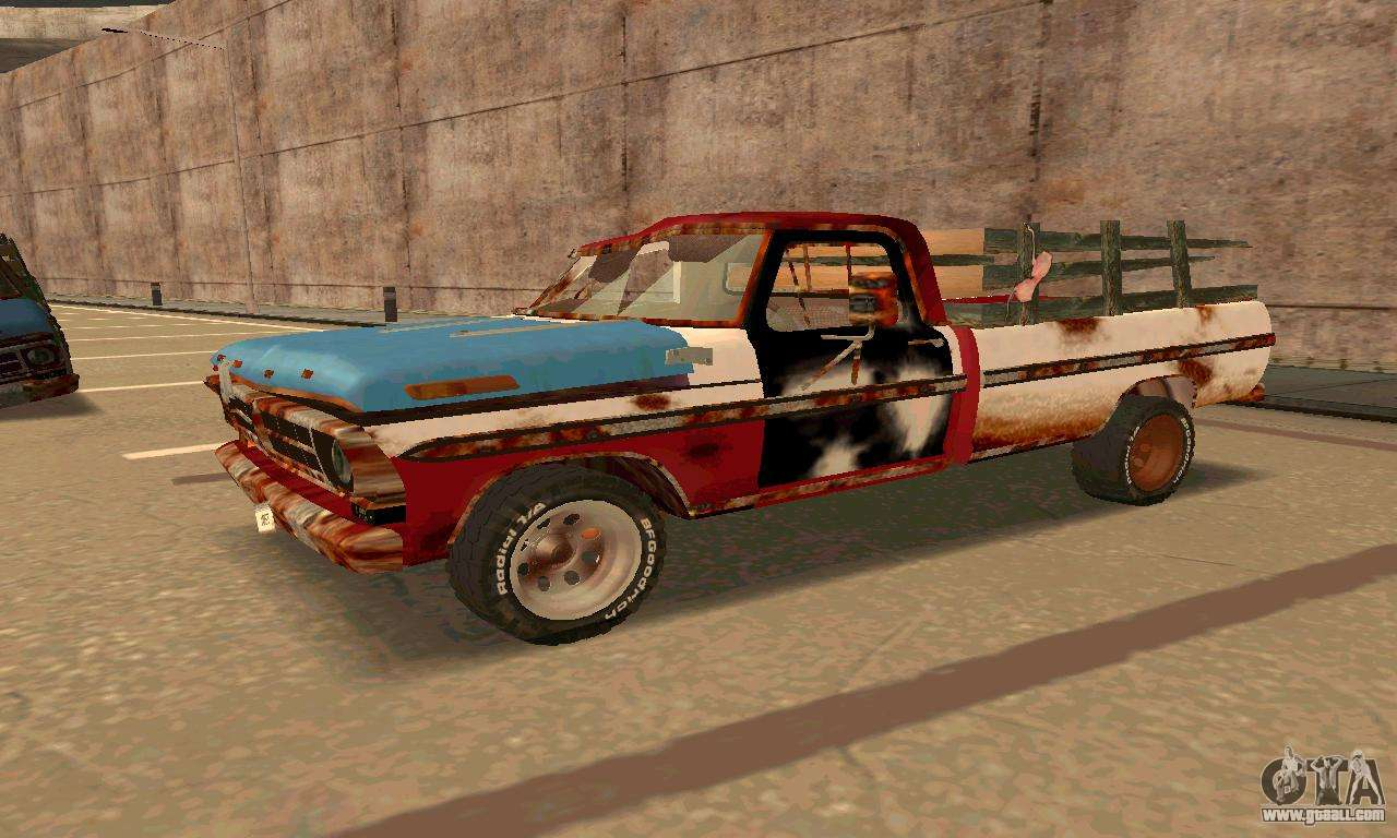 ford pickup rusted for gta san andreas. Black Bedroom Furniture Sets. Home Design Ideas
