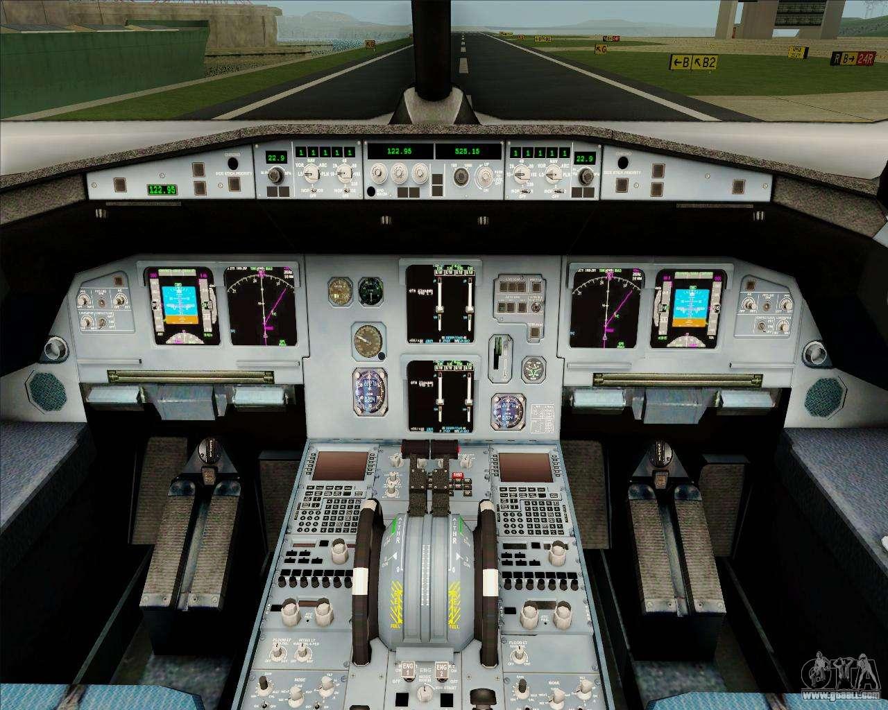 Airbus a320 200 indigo for gta san andreas for Gta sa plane interior mod