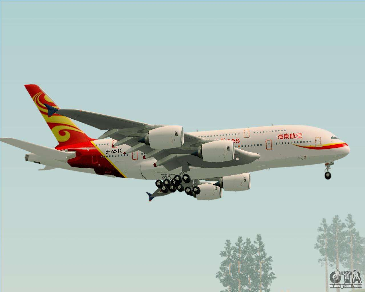Airbus A380 800 Hainan Airlines For Gta San Andreas