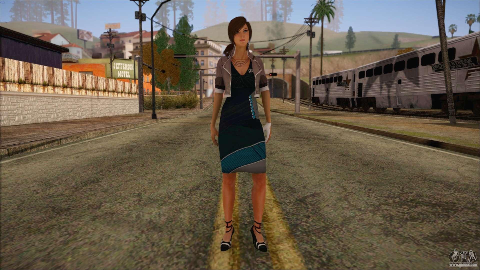 Sarah DoA New Dress Black for GTA San Andreas