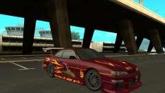 Nissan 200SX FnF1 (Letty car) for GTA San Andreas
