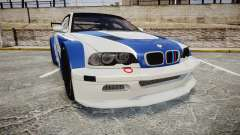 BMW M3 E46 GTR Most Wanted plate NFS MW for GTA 4