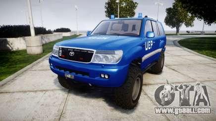 Toyota Land Cruiser 100 UEP blue [ELS] for GTA 4