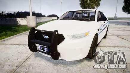Ford Taurus 2014 [ELS] Liberty County Sheriff for GTA 4