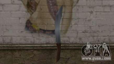 Stone knife for GTA San Andreas