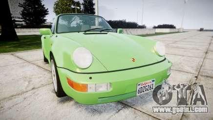Porsche 911 (964) Cabrio for GTA 4