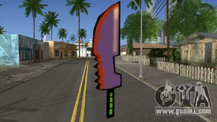 Cartoon sword for GTA San Andreas