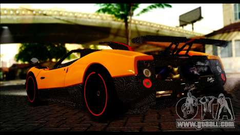 Pagani Zonda Cinque Roadster for GTA San Andreas left view