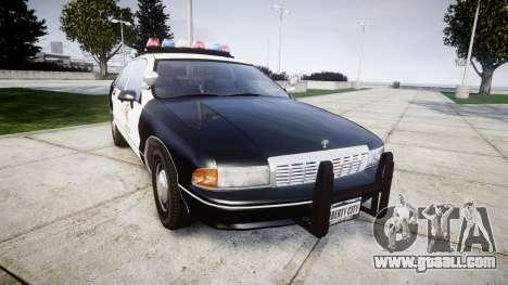 Chevrolet Caprice 1991 LAPD [ELS] Traffic for GTA 4