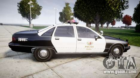 Chevrolet Caprice 1991 LAPD [ELS] Traffic for GTA 4 left view