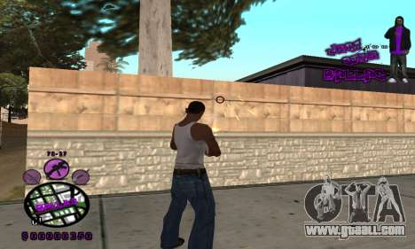 C-HUD Ballas for GTA San Andreas