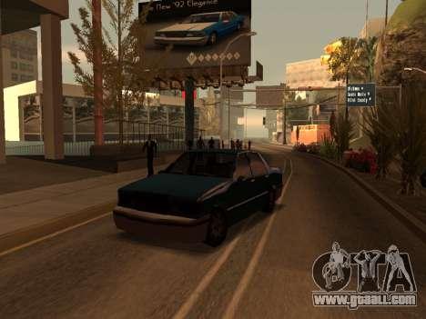 Beta Elegant for GTA San Andreas left view