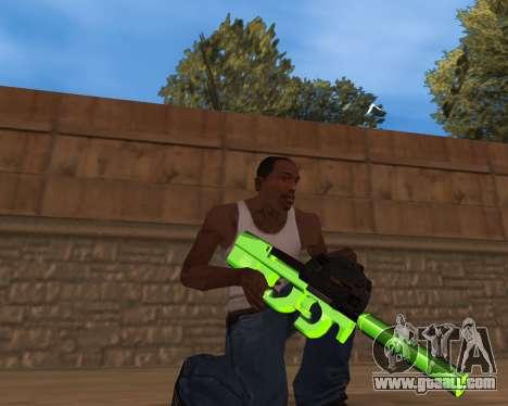 Chrome Green Weapon Pack for GTA San Andreas third screenshot