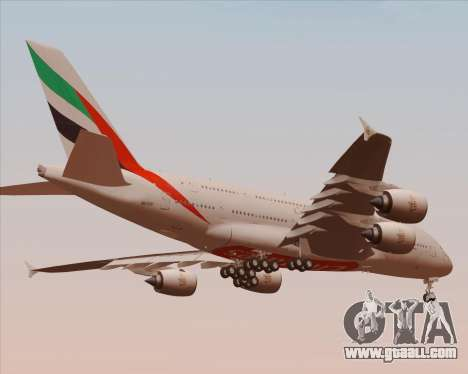 Airbus A380-800 Emirates 40 Anniversary Sticker for GTA San Andreas upper view