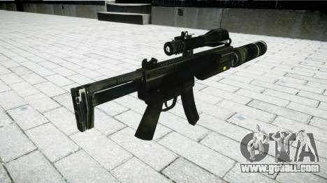 Tactical submachine gun MP5 for GTA 4 second screenshot
