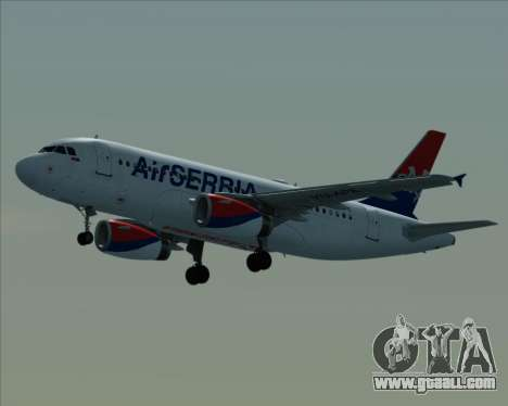 Airbus A319-100 Air Serbia for GTA San Andreas inner view