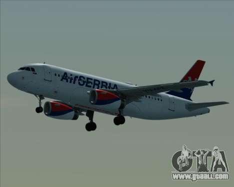 Airbus A319-100 Air Serbia for GTA San Andreas inner view