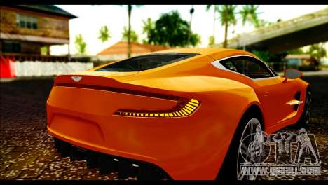Aston Martin One-77 Black for GTA San Andreas back view