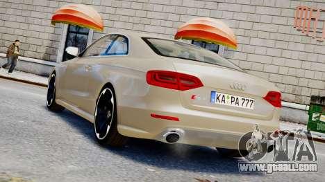 Audi RS4 B8 2013 v1 for GTA 4 left view