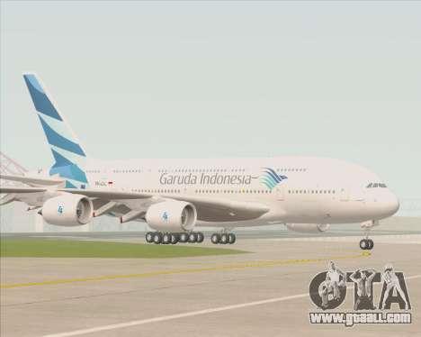 Airbus A380-800 Garuda Indonesia for GTA San Andreas upper view