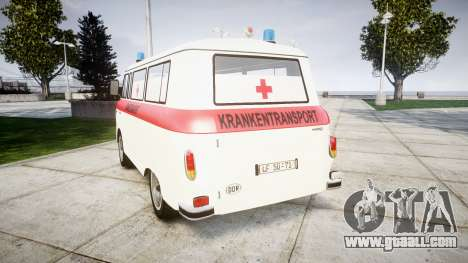 Barkas B1000 1961 Ambulance for GTA 4 back left view