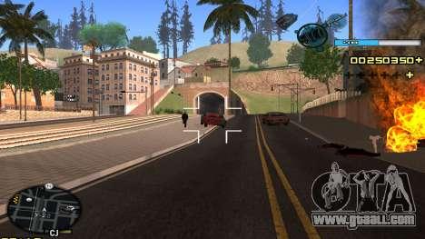 C-HUD Blue for GTA San Andreas forth screenshot