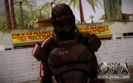 Shepard Default N7 from Mass Effect 3 for GTA San Andreas third screenshot