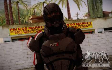 Shepard Default N7 from Mass Effect 3 for GTA San Andreas third screenshot