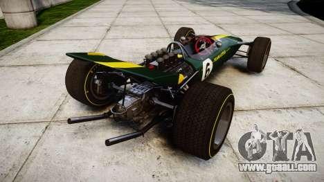 Lotus Type 49 1967 [RIV] PJ5-6 for GTA 4 back left view