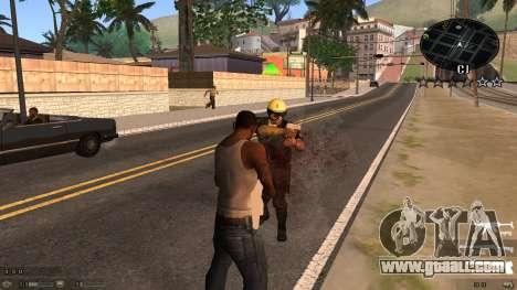 C-HUD Blue for GTA San Andreas second screenshot