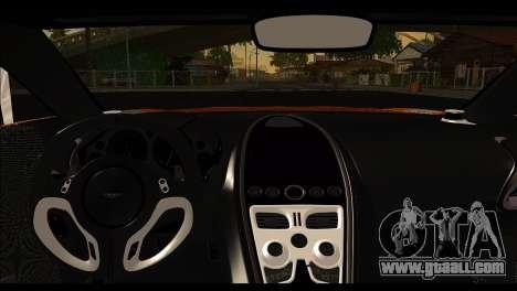 Aston Martin One-77 Black for GTA San Andreas inner view