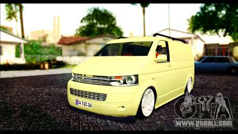 Volkswagen Transporter Panelvan for GTA San Andreas