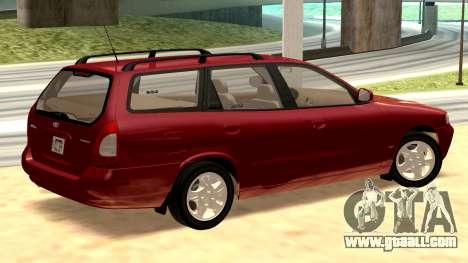 Daewoo Nubira I Wagon CDX US 1999 for GTA San Andreas back left view