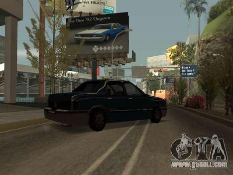 Beta Elegant for GTA San Andreas back left view