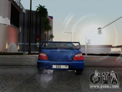 Subaru impreza WRX STI 2004 for GTA San Andreas left view