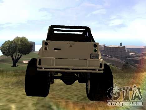 GTA 5 Mesa MerryWeather version for GTA San Andreas back left view