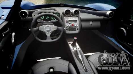 Pagani Zonda C12 S 7.3 2002 PJ1 for GTA 4 inner view