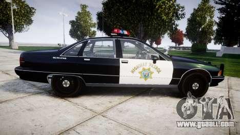 Chevrolet Caprice 1991 Highway Patrol [ELS] for GTA 4 left view